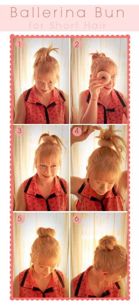 how to use a donut bun with short hair