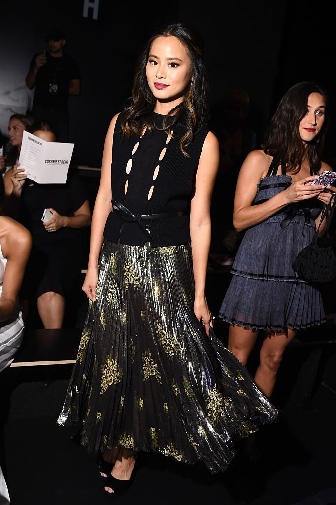 Jamie Chung attends the Cushnie Et Ochs fashion show during New York Fashion Week: The Shows at The Dock, Skylight at Moynihan Station on September 9, 2016 in New York City.
