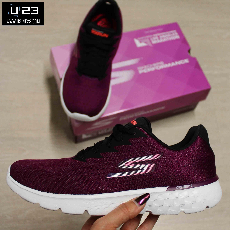 48449c3a80b9 Sneakers Femme - Skechers Go Run 400 Sole Raspberry