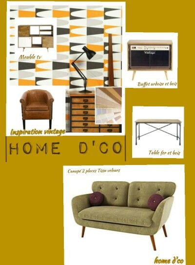 Proposition mobilier salon vintage