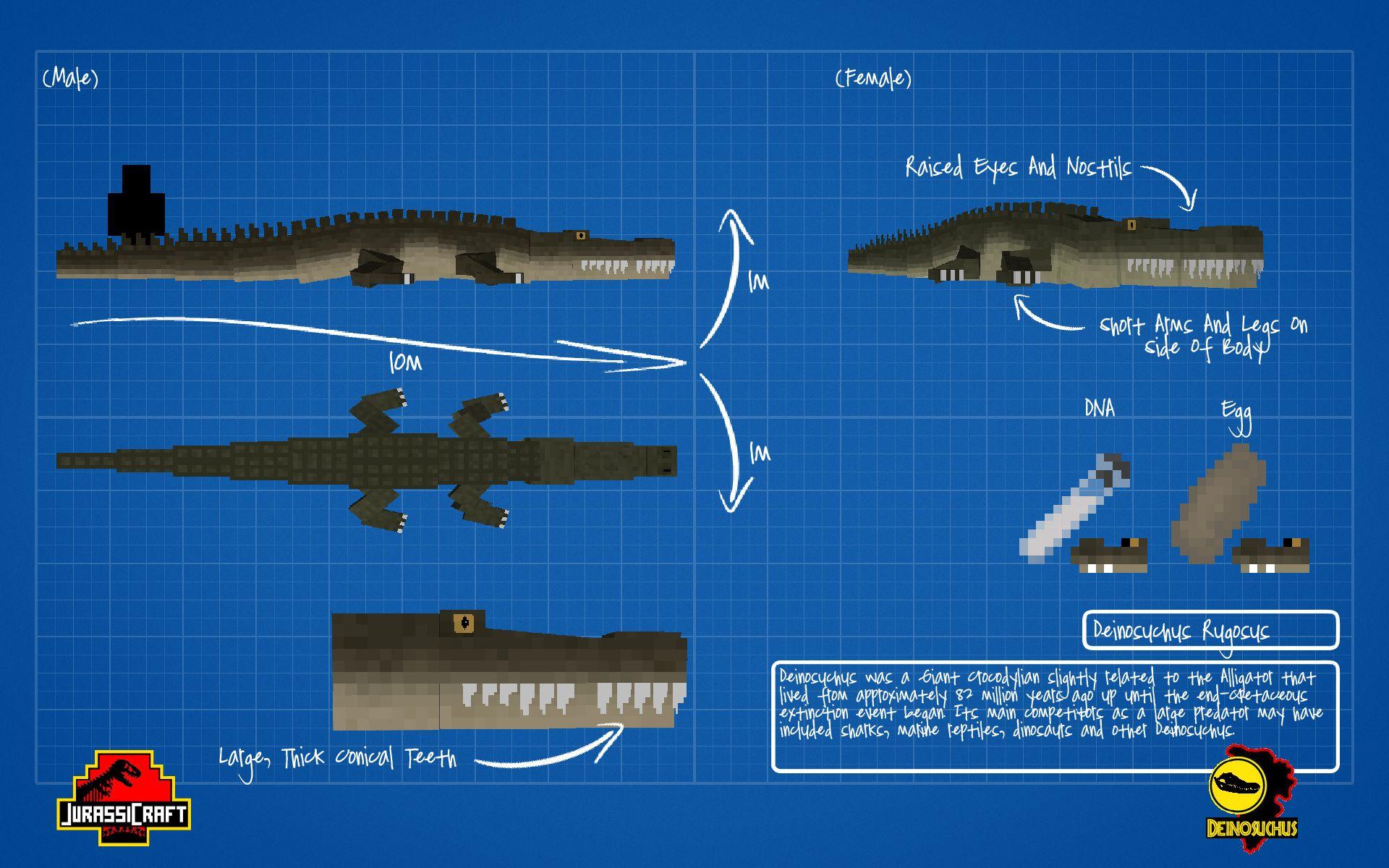Jurassicraftblueprintdilophosaurusbyjurassicraft