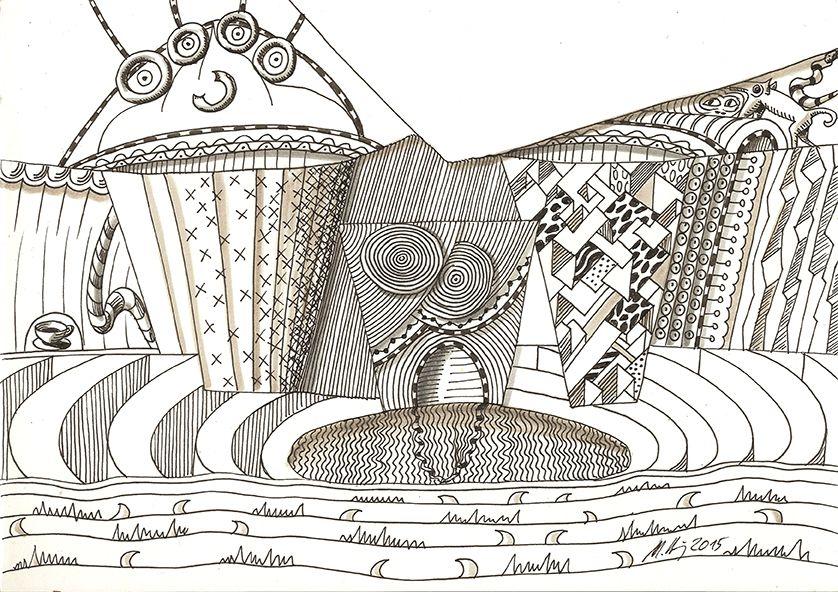 """""""tragedy"""", #Zeichnung #Pigmenttusche (#PITT #artist #pen Faber-Castell ) auf #Hahnemühle #Papier """"Nostalgie"""", 190 g/m2 21 x 30 cm, © #matthias #hennig 2015    """"tragedy"""", #india #ink #drawing (#PITT #artist #pen Faber-Castell ) on #Hahnemuehle #paper """"Nostalgie"""",190 g/sqm 21 x 30 cm, © #matthias #hennig 2015"""