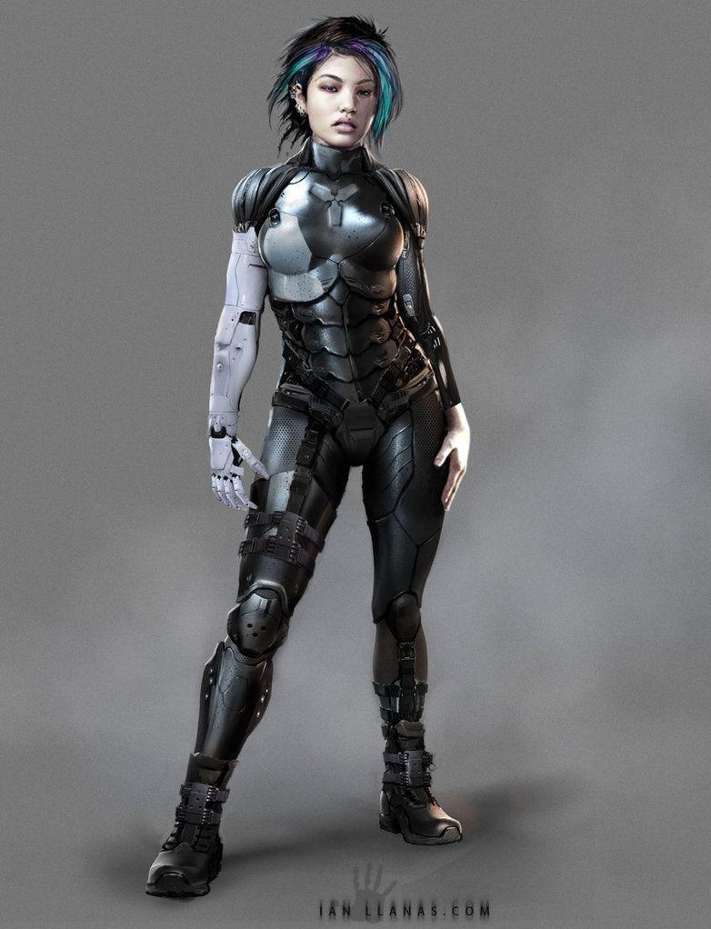 Cyberpunk character design by ianllanas on deviantart for Sci fi decor