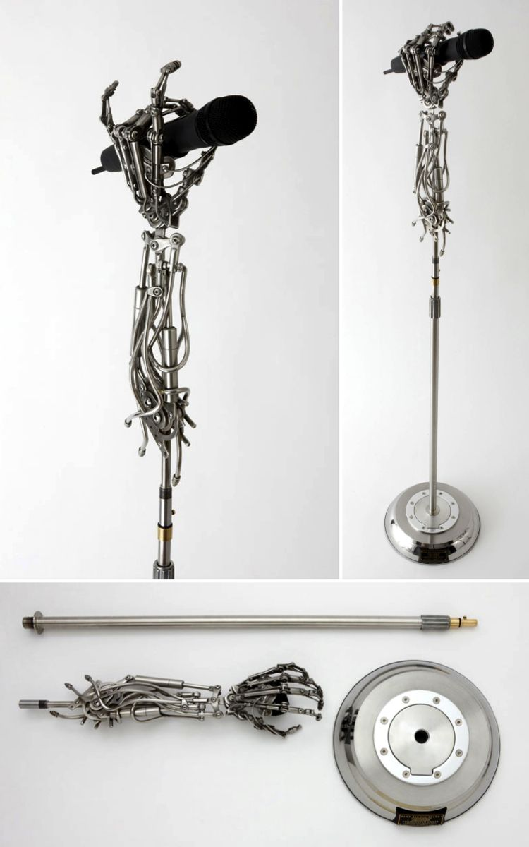 custom microphone stand created for three days grace by christopher conte art pinterest. Black Bedroom Furniture Sets. Home Design Ideas