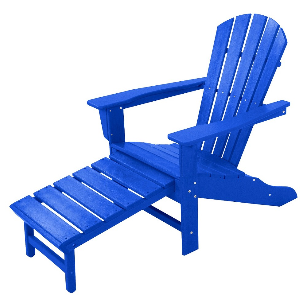 Palm Coast Adirondack Chair with Pull Out Ottoman - Pacific Blue ...