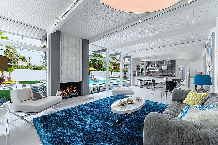 Hidden Desert Residence by H3K Design Home Adore Dream Home - wohnzimmer blau grau