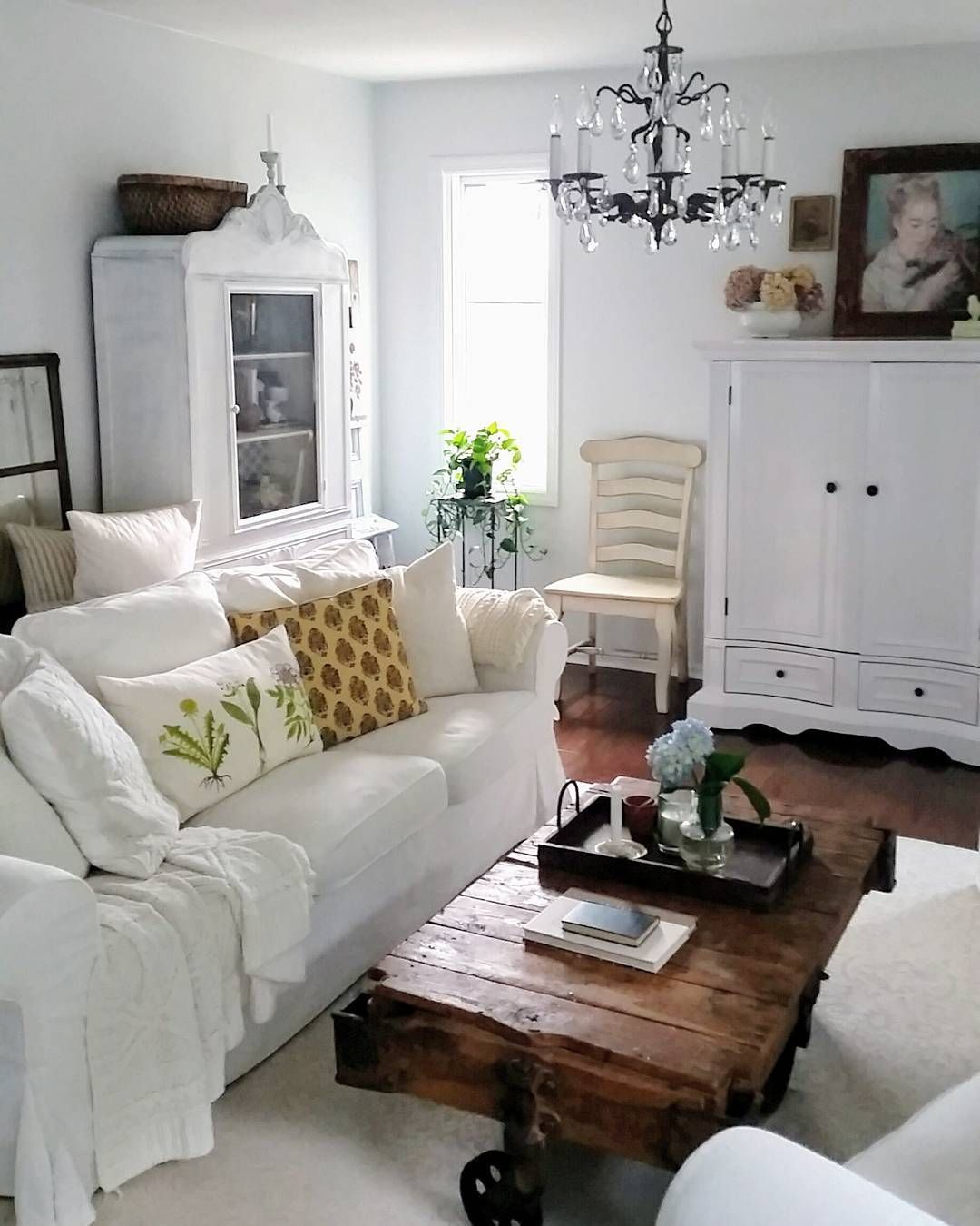 Small Cottage Interiors Cozy Home Office Cottage: Shabby Chic Room Image By Little Yellow Cottage On ***Cozy Cottage Living Rooms***