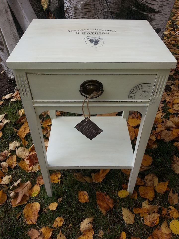 """Vintage nightstand painted with """"make your own chalk paint ..."""