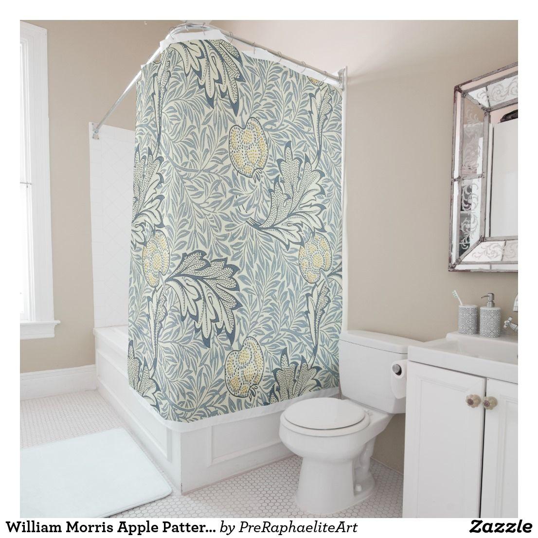 William Morris Apple Pattern Shower Curtain