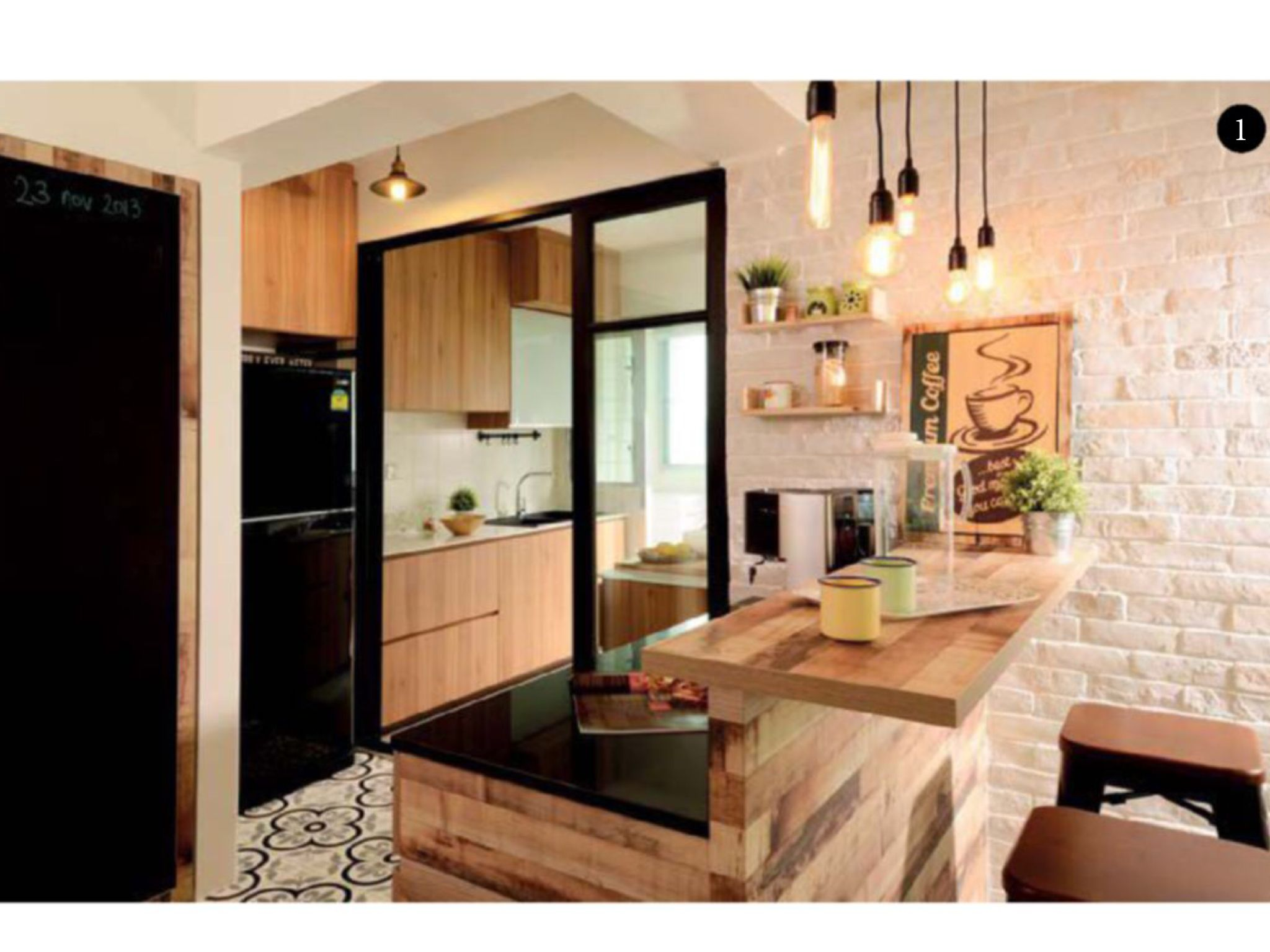 Nice separation of wet and dry hdb ideas pinterest shelter dining and scale for Hdb wet and dry kitchen design