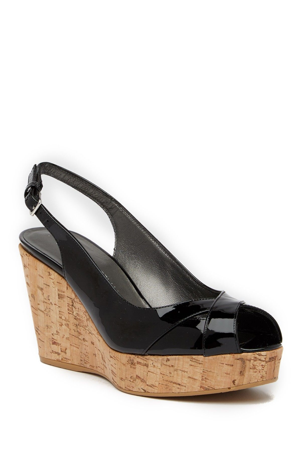 87a87d8785b Vent Peep Toe Wedge Slingback Sandal
