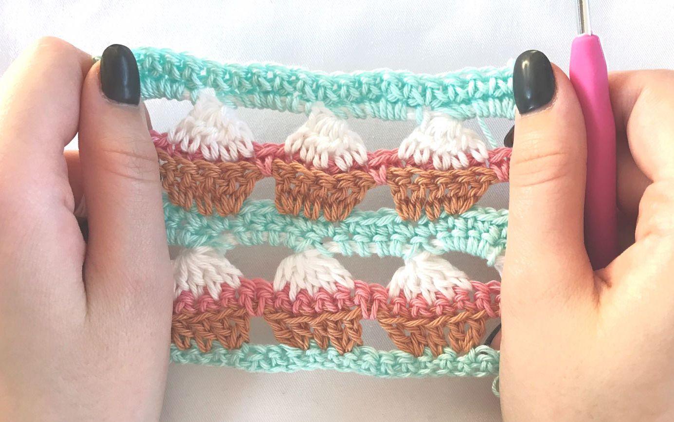 Cupcake stitch - free crochet tutorial | Häkeln, Muster und Grafiken