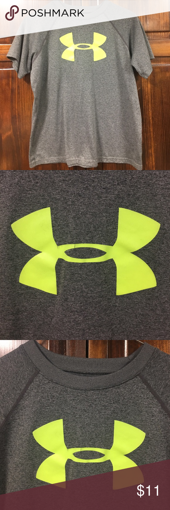 Boys Youth Large Under Armour Short Sleeve Shirt Armours Youth