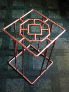 Image detail for -copper pipe furniture & design at Kaboodle