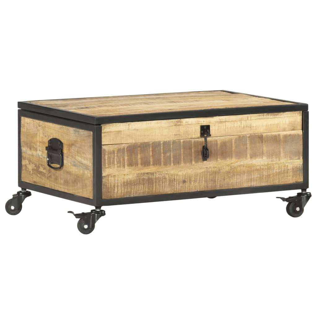 vidaXL solid mango coffee table 70 x 50 x 33 cm