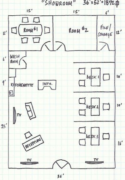 Some Ideas On The Floorplan Design Of A Brokerage Office Real