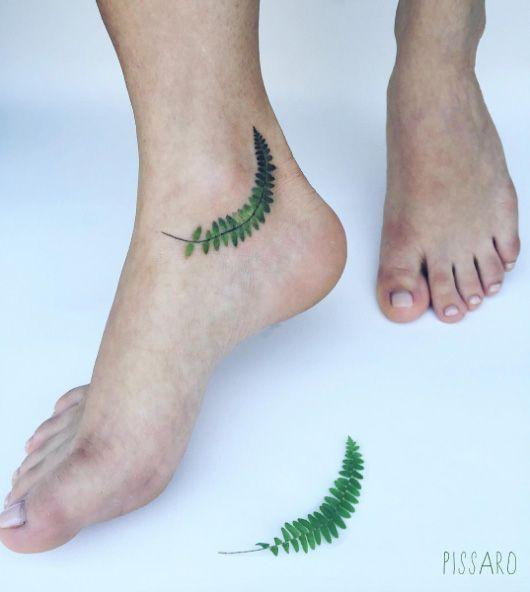 40 Beautiful Fern Frond Tattoo Designs Fern Tattoo Tattoos Feet Tattoos