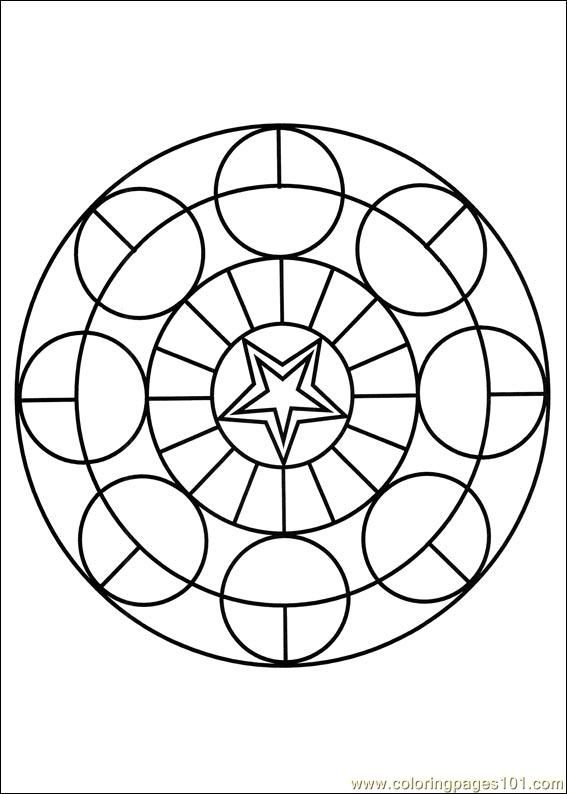 Free Printable Mandala Coloring Pages   free printable coloring page Mandalas 018 (Other > Painting)