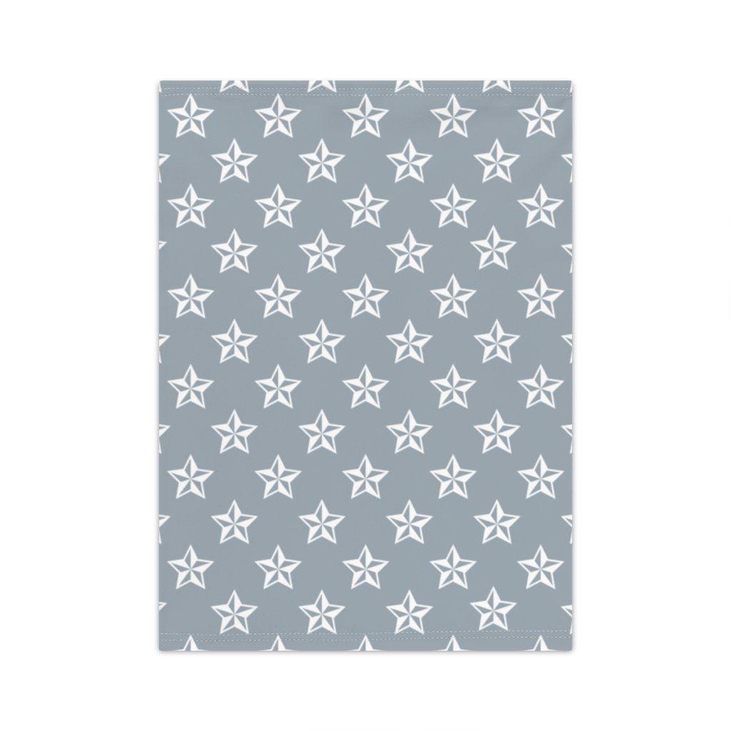 Stars Pattern Neck Gaiter Grey - One size