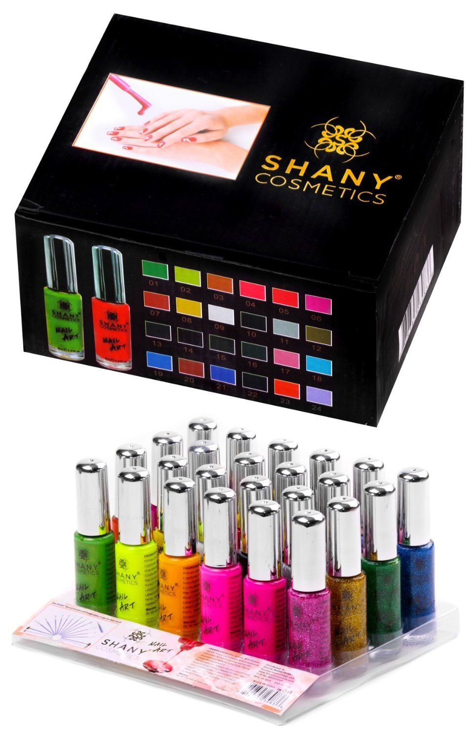 SHANY Nail Art Set (24 Famouse Colors Nail Art Polish, Nail Art ...