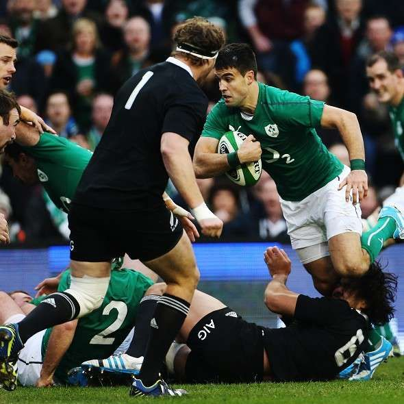 Conor Murray goes over for one of Ireland s tries