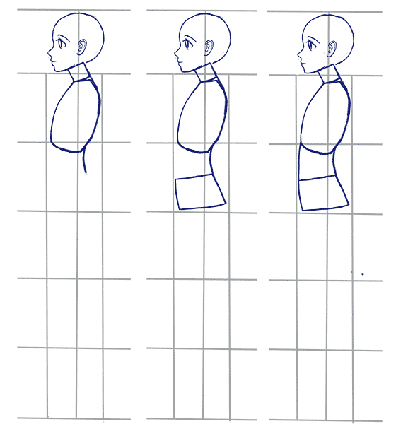 How To Draw Anime Side View Full Body Profile Manga Tuts Anime Side View Anime Drawings Drawings