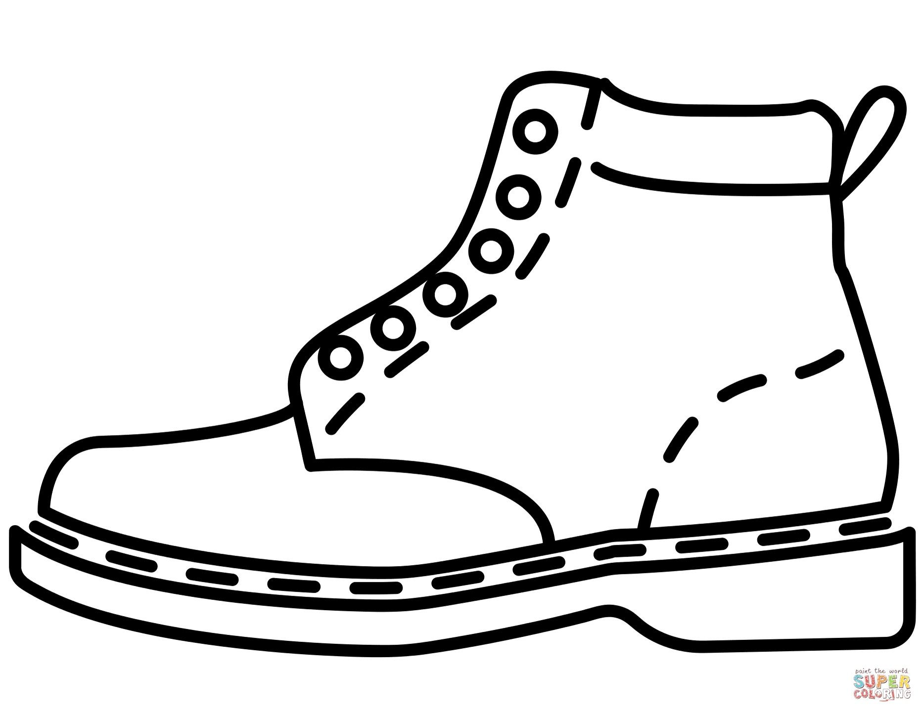22 Exclusive Picture Of Coloring Pages Of Shoes Leather Boots