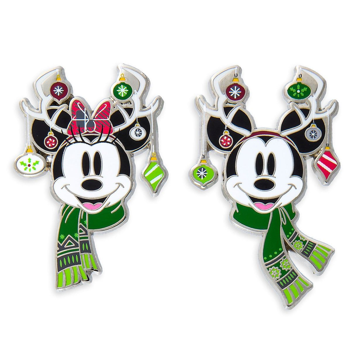 Product Image of Mickey and Minnie Mouse Holiday Pin Set ...
