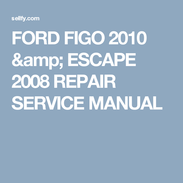 ford figo service manual pdf