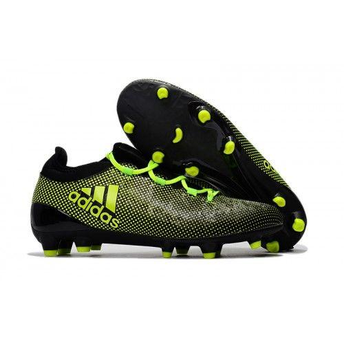 Adidas X 17.1 FG Herren Fußballschuhe Schwarz Grün