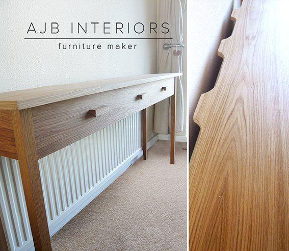 Handmade oak radiator cover console table by UK furniture maker AJB ...