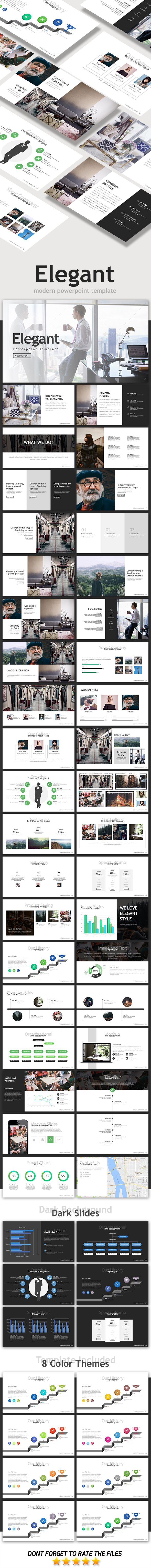 Elegant Powerpoint Template | Template, Business powerpoint ...