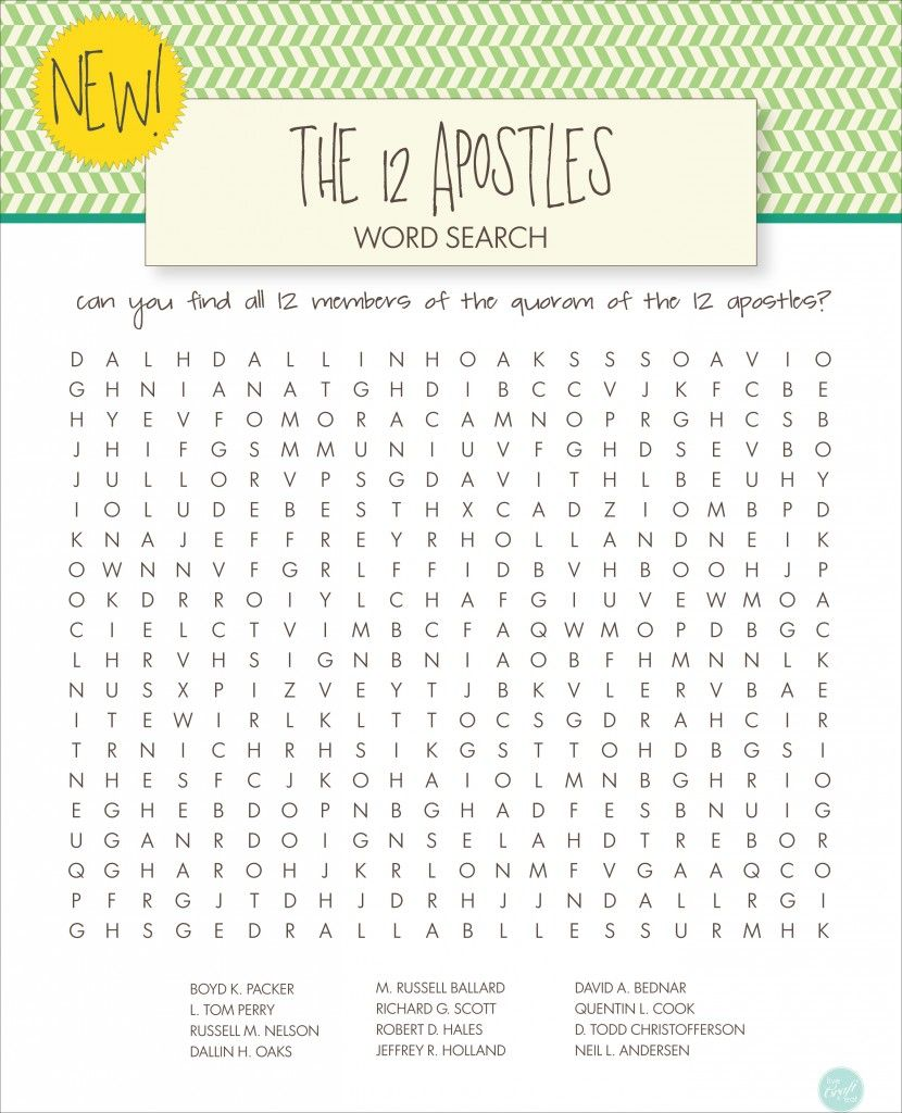 lds word searches for kids free printables word search