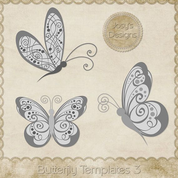 Butterfly PSD Templates 3 by Josy\u0027s Designs records recycled