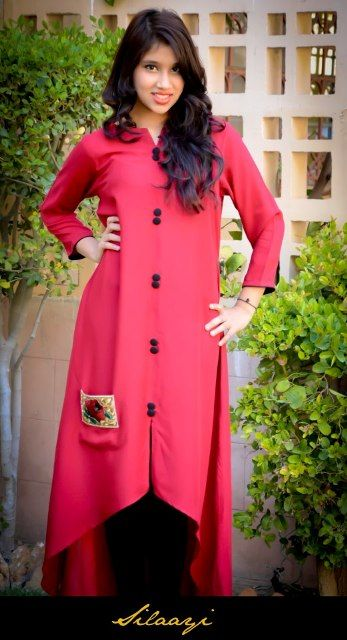 Creative Pakistani Casual Dresses Designs 2017 Images