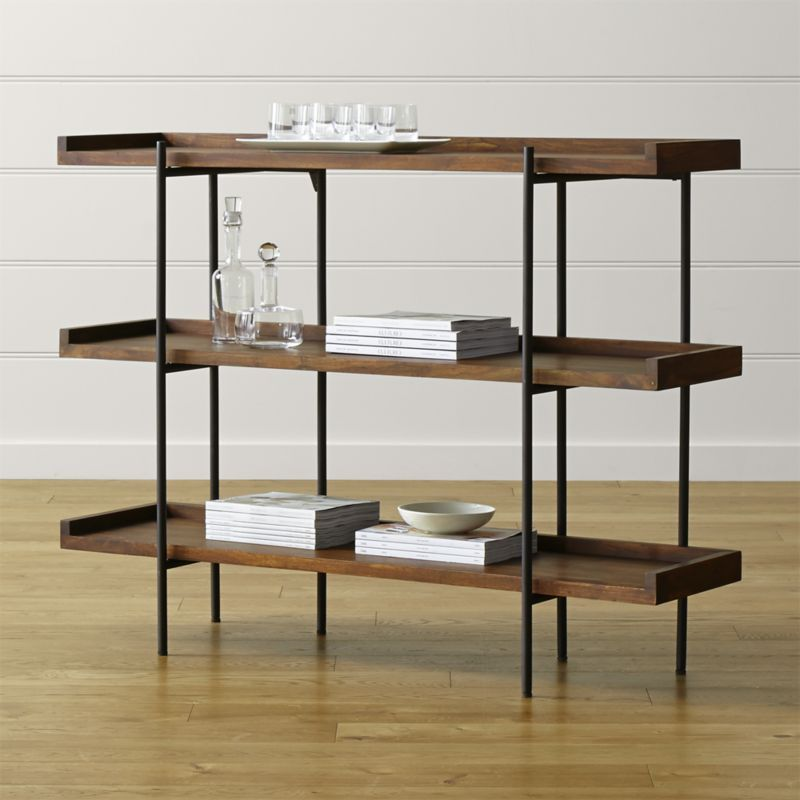 By Leather Tabs In The Back Unique Graining Knots Splits Or Fissures Wood Add To Distinct Character Of This Exceptional Shelving Unit