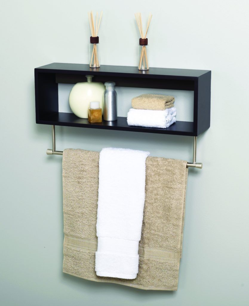 Bathroom Wood Shelf With Towel Bar | Bathroom Design | Pinterest ...