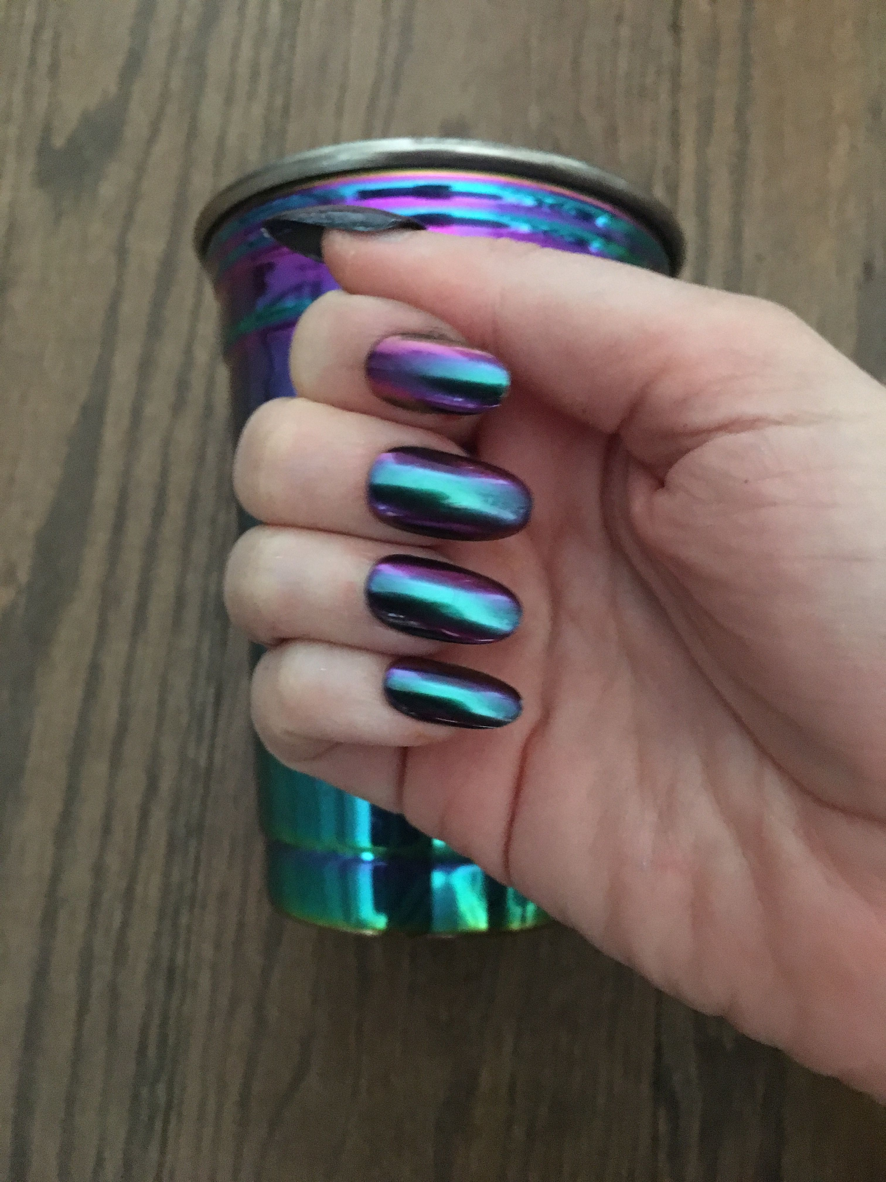 Duochrome Nails To Match My Cup Want Your Own Set Of Nails In This
