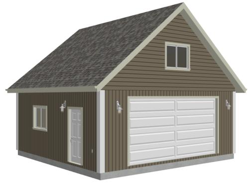 G514 24 X 24 X 9 Loft Garage Plans In Pdf And Dwg Garage Plans With Loft Shed With Loft Garage Plans