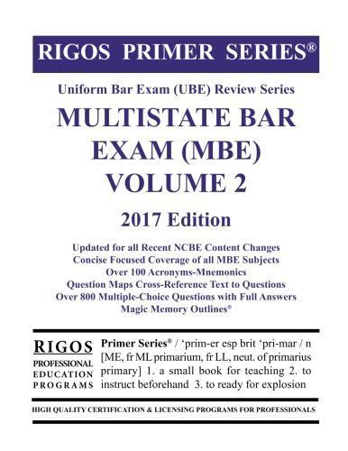 Rigos Primer Series Uniform Bar Exam (UBE) Multistate Bar
