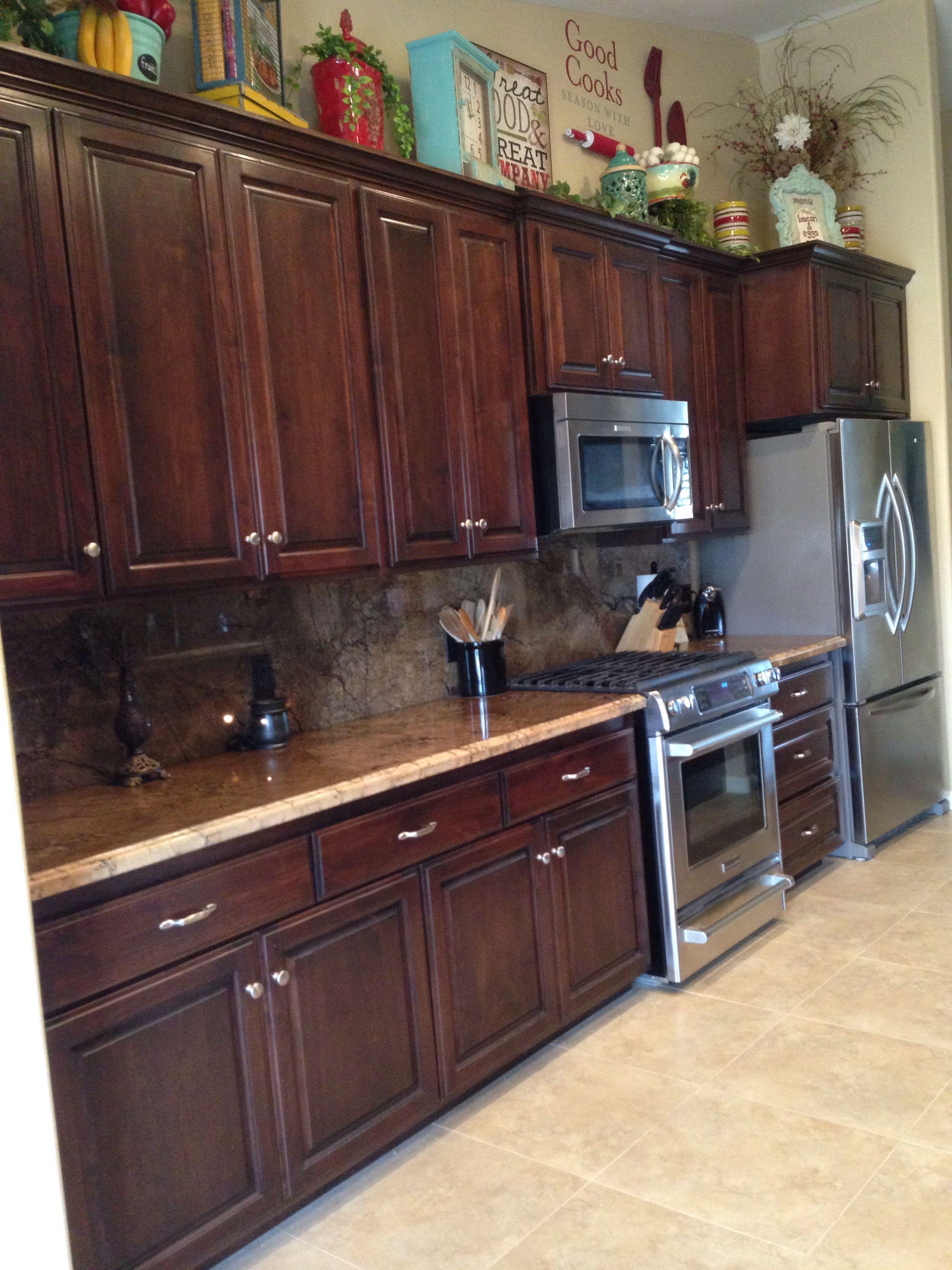 Dark cabinets stainless steel appliances | Kitchen ...