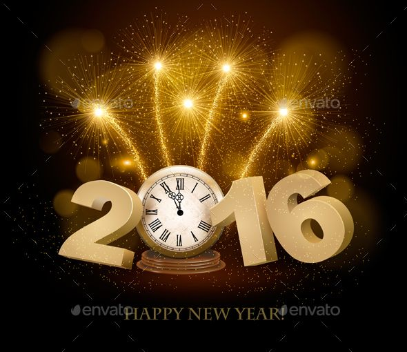 Happy New Year Background With 2016 And Clock New Years Background Happy New Year Background Happy New Year