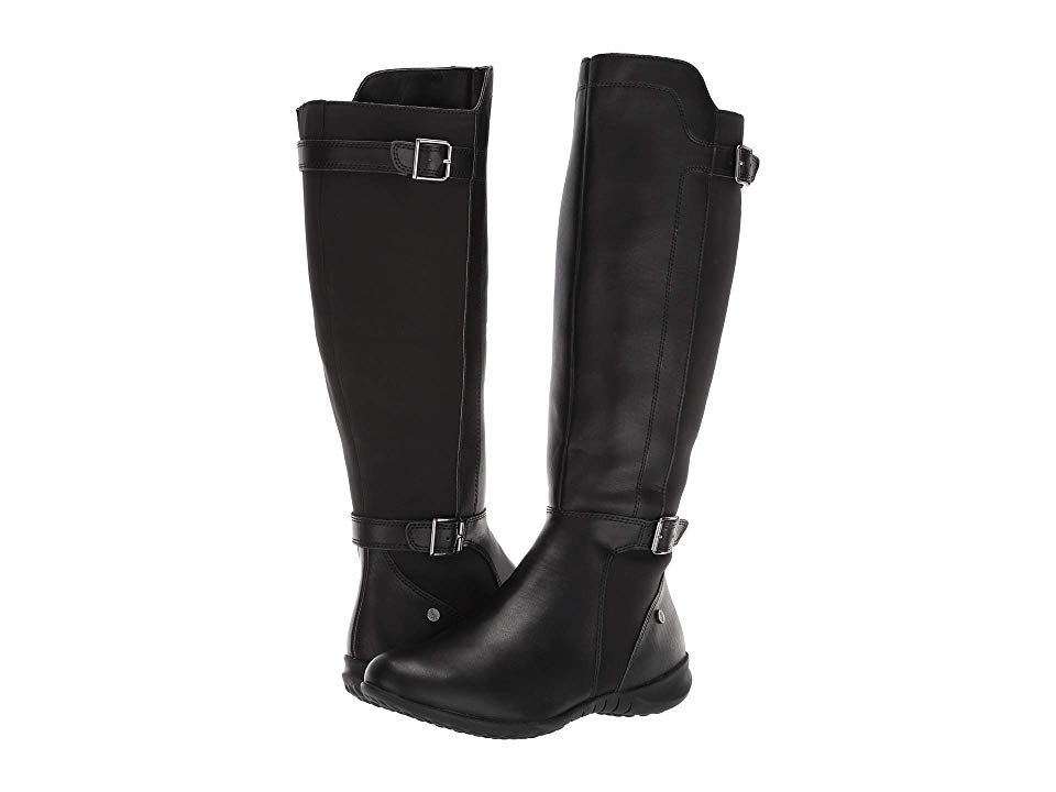Hush Puppies Bria Tall Boot Women S Dress Pull On Boots Black Pu Boots Pull On Boots Tall Boots