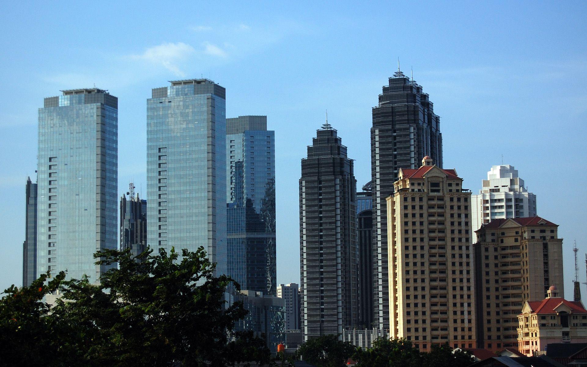 Skyscrapers Jakarta Skyscrapers, Indonesia Globe