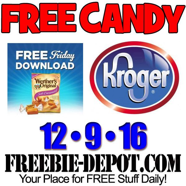 FREE Werther's Candy at Kroger 12/9/16 Free, FREEStuff