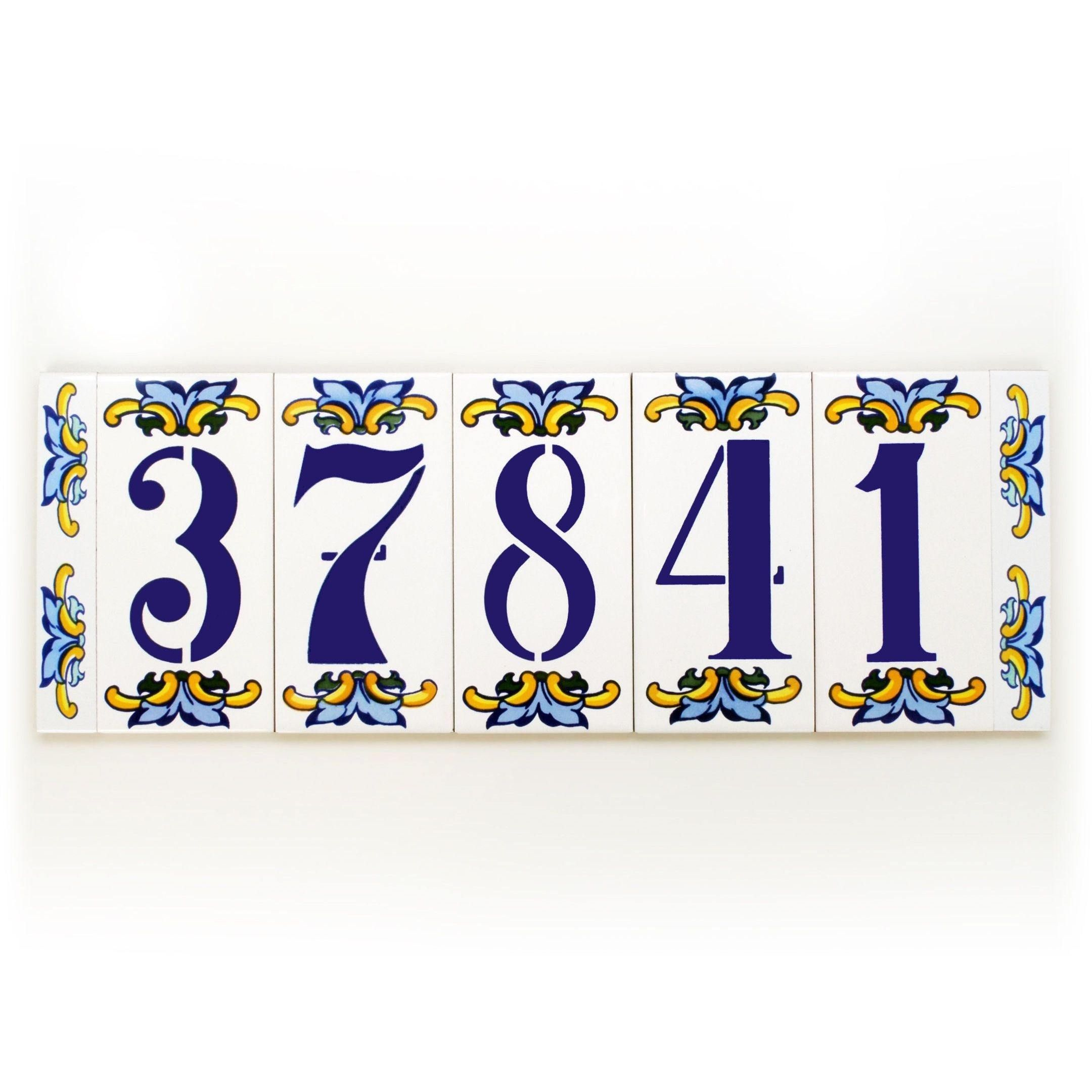Simply awesome glazed door number plaque spanish door number ceramic tile house numbers address plaques and signs by canariantreasury dailygadgetfo Image collections