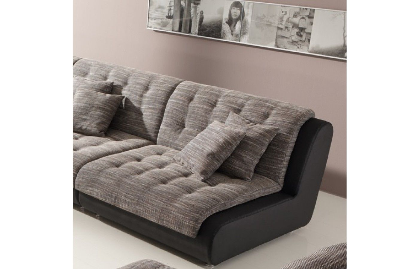 Exklusive Sofas materialmix wohnlandschaft leder stoff chillout one exklusiv