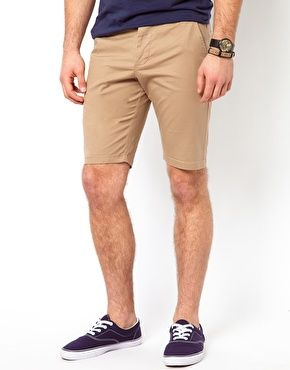 Image 1 of ASOS Skinny Chino Shorts In Mid Length | Rich Summer ...