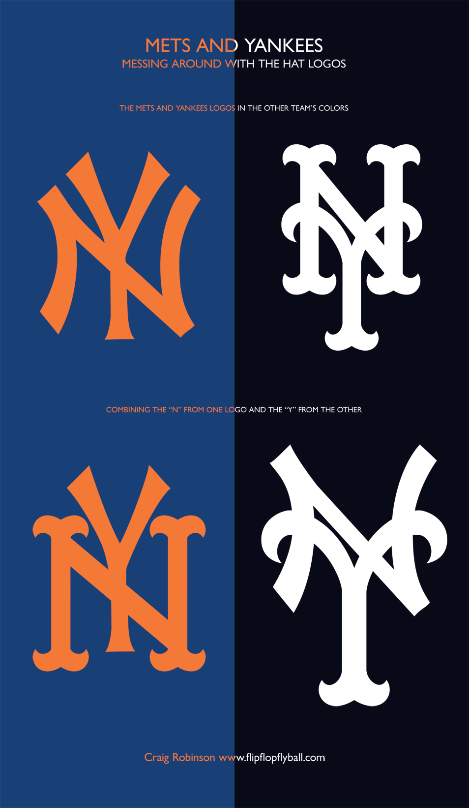 This Is A Graphic By Craig Robinson An Englishman Who Fell In Love With Baseball And Then Began Churning Out Amazing Graphic Yankees Logo One Logo Team Colors