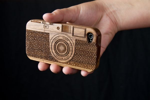 iphone camera woody case
